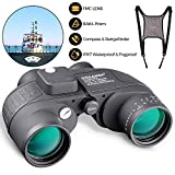 10x50 Marine Binoculars for Adults, Military Binoculars with Nitrogen-Filled