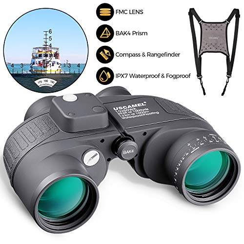 10x50 Marine Binoculars for Adults, Military Binoculars with Nitrogen-Filled