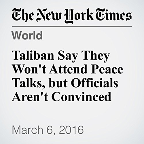 Taliban Say They Won't Attend Peace Talks, but Officials Aren't Convinced cover art