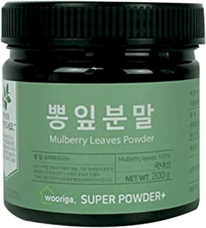 Wooriga Story Korean Mulberry Leaves Powder | 200g | 1 Container, Freshest & Finest Quality, Easy to Take with Various Recipes, 뽕잎
