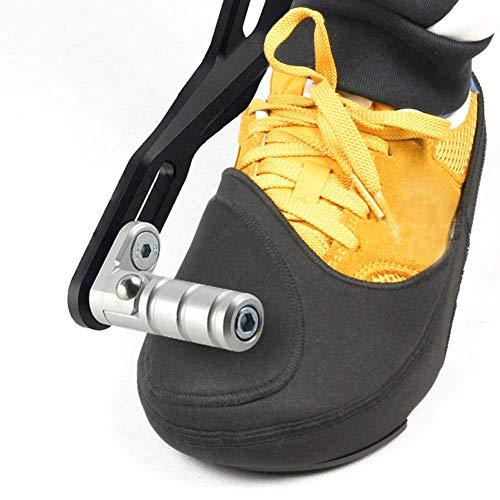 ZQEDY Stivali da Moto Protezione, Leva del Cambio Accessori per Antiscivolo Scarpe Stivali da Moto Protezione - Nero, Free Size