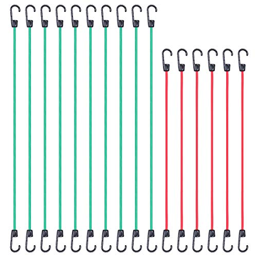 CARTMAN Bungee Cords 16pcs, with Coated Steel Hook
