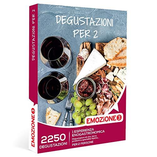 EMOZIONE3 - Degustazioni per 2 -  Cofanetto Regalo Gourmet  - 1 esperienza enogastronomica per 2 persone