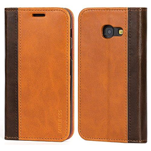 Mulbess Funda Samsung Galaxy A3 2017 [Libro Caso Cubierta] Billetera Cuero Carcasa para Samsung Galaxy A3 2017 Case, Marrón