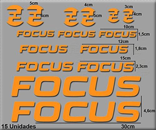 Ecoshirt 9K-TYYI-CJV2 Pegatinas Focus R121 Vinilo Adesivi Decal Aufkleber Клей MTB Stickers Bike, Naranja