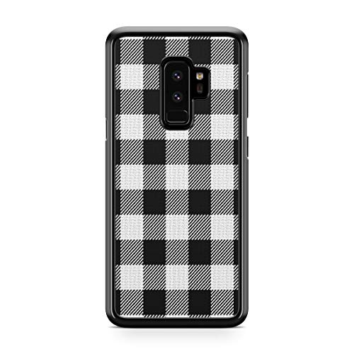 Gray Plaid Case For Samsung Galaxy S9 Plus Case Custom Plaid Checkered Galaxy S9 Phone Cover A9998