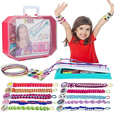 BEMITON Friendship Bracelets Maker Making Kit, Arts and Crafts for Kids Ages 8-12, Best Birthday Gifts for Teen Girls, Travel Activity Set for Ages 6,7,8,9,10,11,12 Year Old Girls