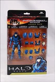 Halo Reach Series 4 Spartan Air Assault Figure & 3 Sets Of Armor - Team Blue Action Figure 2-Pack