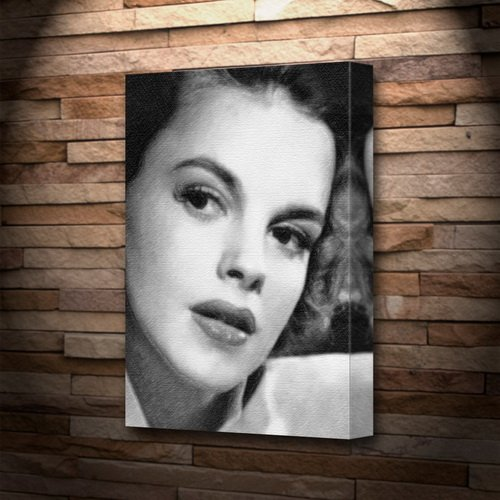 JUDY GARLAND - Canvas Print (A4 - Signed by the Artist) #js002