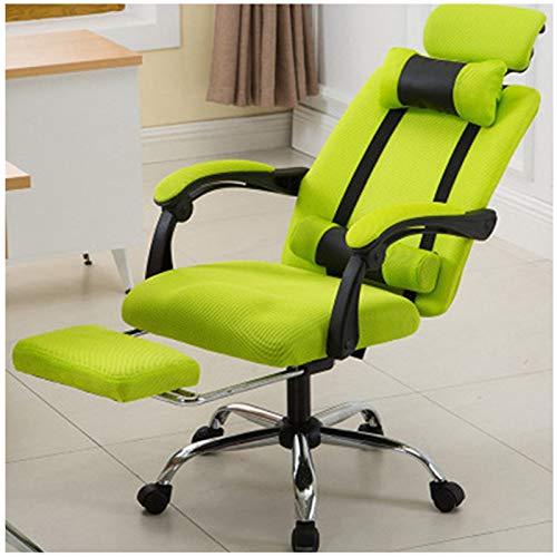 Silla de oficina, silla de juego, silla ergonómica en casa de oficina, escritorio y silla giratoria ajustable con respaldo alto y soporte para la cintura y reposacabezas