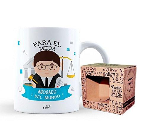 Mr Cool Taza en Caja Regalo en Mensaje para el Mejor Abogado ¡del Mundo, Cerámica, Multicolor, 15x10x5 cm