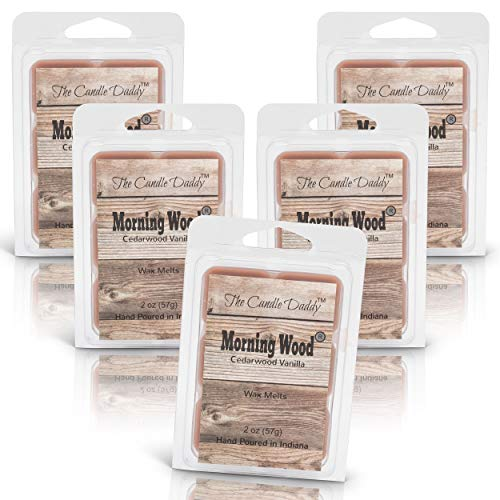The Candle Daddy Morning Wood- Cedarwood Vanilla- Maximum Scent Wax...