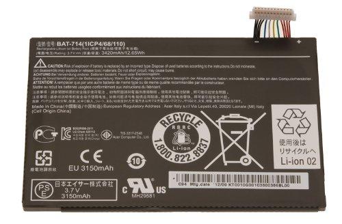 Batterie d'origine pour tablette acer iconia a110 série 3420mAh 3,7 v