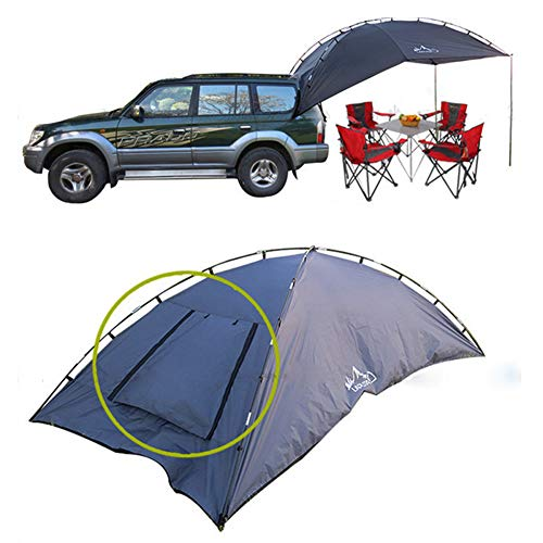 Xljh Outdoor Opvouwbare Auto Tent Camping Shelter Anti-UV Tuin Vissen Waterdichte Auto Awning Tent Picknick Sun Shelter Strand 5-8 Personen