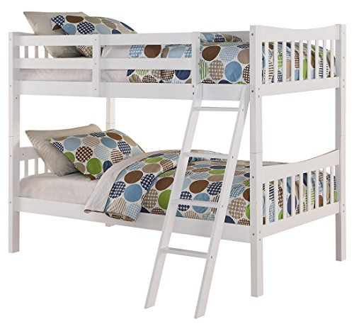 Angel Line Fremont Twin Over Twin Bunk Bed White
