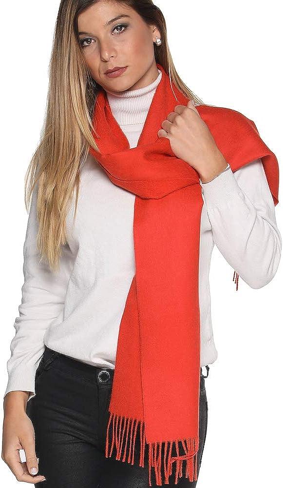 Luxury 100% Pure Peruvian Baby Alpaca Reversible Wool Scarf for Men & Women - Variety of Colors