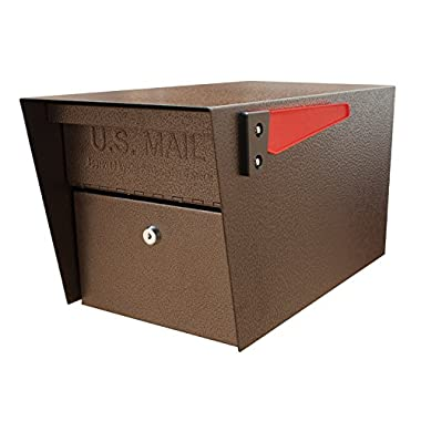 Mail Boss 7508 Curbside Mail Manager Locking Security Mailbox, Bronze