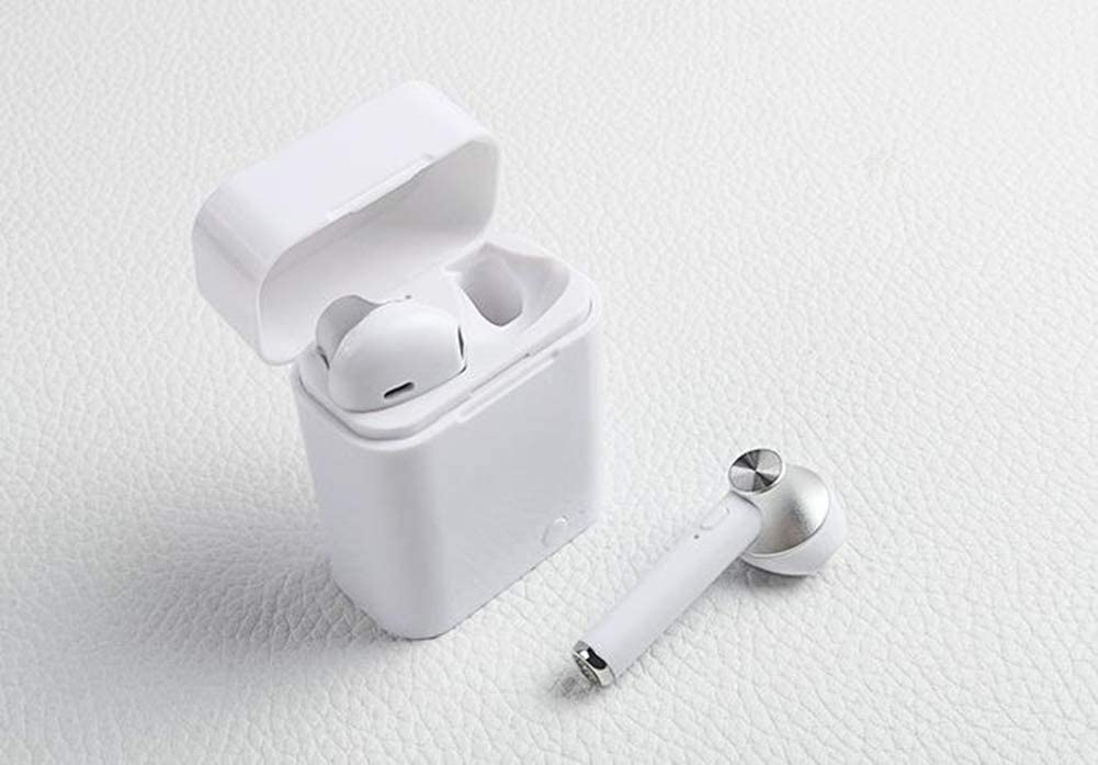 Wireless bluetooth earbuds Invisible mini single headphone earphone cordless sport headsets with earphones charging case,Gold Gold