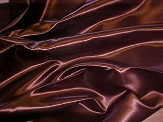 Linen Superstore King Size Premium Bridal Satin Waterbed Sheet Set with Free Stay Tuck Poles - Chocolate