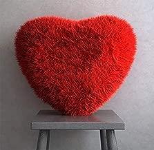 Mukesh Handicrafts Silk Heart Shape Pillow, 40cm (Red)