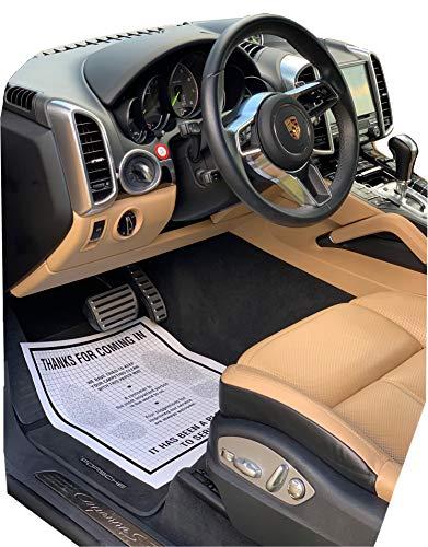 AutoMat Heavy Duty Premium Reinforced Plastic Coated Disposable Paper Automotive Floor Mat (Case of 250)