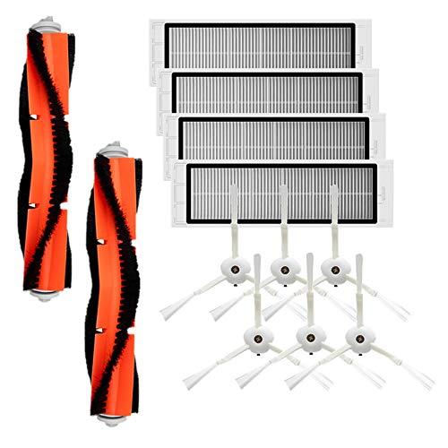 KKmoon Kit di Accessori compatibile con XIAOMI MI Parti di Ricambio per Aspirapolvere Robot, 6 Spazzola Laterale + 4 Filtri HEPA + 2 Spazzola Principale Adatto