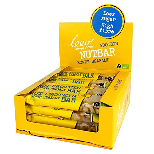 Leev 3598 Bio Nutbar Sweet&Salty Protein-Honey-Sea salt 40g - Multiset of 16pcs in one display box