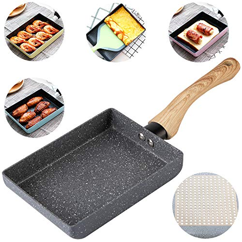 Tamagoyaki Japanese Omelette Pan / Egg Pan - Non-stick Coating - Rectangle Frying Pan Mini Frying Pan – Grey