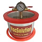 VacSolutions 1.5 Gallon Vacuum Chamber Degassing Chamber Kit to Urethanes Silicone Epoxies
