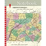 Notebook: 1827, Finley Map of Eastern Pennsylvania, en-antd Lehigh-Susquehanna, Susquehanna-Tioga, Turnpike, Anthony Finley mapmaker of the United States in the 19th century