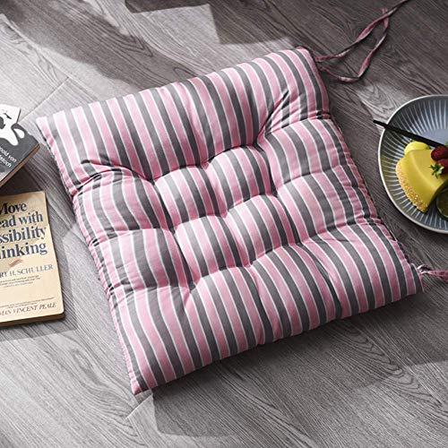 JD Bug Stoel kussen Wicker zitkussen, vierkant met zachte tegels verdikt interieur buitenkant met banden voor Patio Garden Office Stoel Pads - oranje 45x45cm (18x18inch)