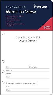 2022 Refill Collins DayPlanner Personal Organiser Week to View PR2700