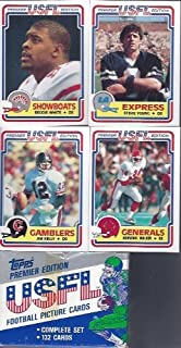 1984 Topps Usfl Football Factory Set 132 Cards Includes Rookie Cards of Jim Kelly, Reggie White, Steve Young Hershel Walker and Many More