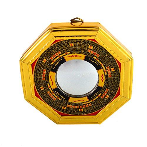 Feng Shui Bagua espejos Convexo Pakua con libre Mxsabrina color rojo de la pulsera de cuerda de cuero de la PU: J2322