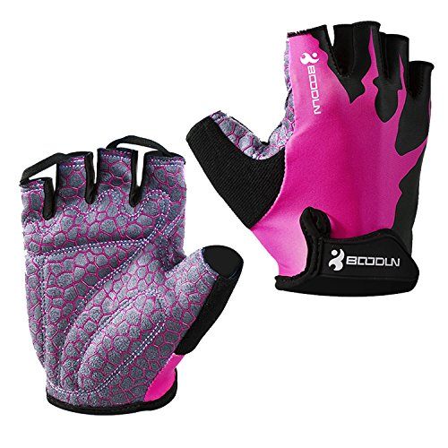 Eroilor Radsport Kurz Handschuhe Halb Finger Bike MTB Gloves Sommer Radhandschuhe für Damen/Herren - Rosa - M