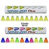 Best Shuttlecocks - NONGI Combo Plus Plastic Badminton Shuttlecock Pack of Review