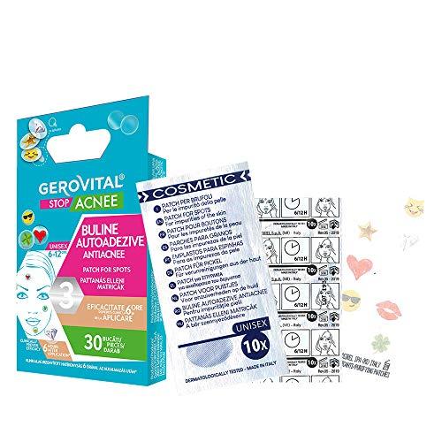 Gerovital Stop Acnee, Pegatinas Adhesivas Anti-Acné, por tipo de piel: Combinación Acnéica Grasa, 30 piezas
