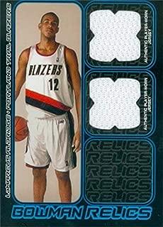 Lamarcus Aldridge player worn jersey patch basketball card (Portland Trailblazers) 2006 Bowman Star Relics #BDRLA