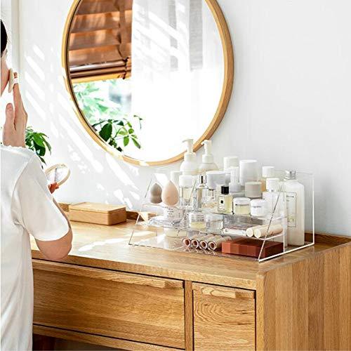 XUE Maquillage Organisateur, Bureau, Fournitures De Cuisine Salle De Bain Et Plus Transparent Ménage Coiffeur Bureau Rouge À Lèvres Finition Plateau Fond Rond Rond