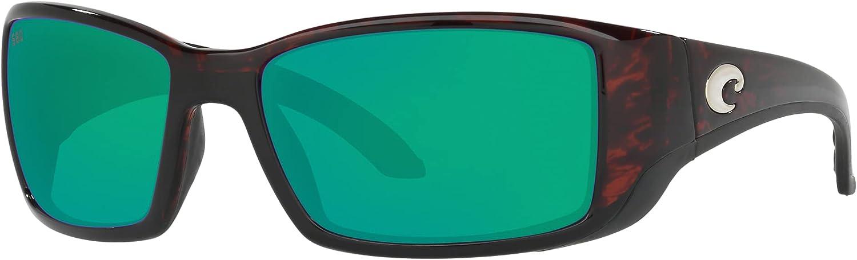 Costa Del Mar Blackfin Sunglasses Tortoise/Green Mirror 580Glass