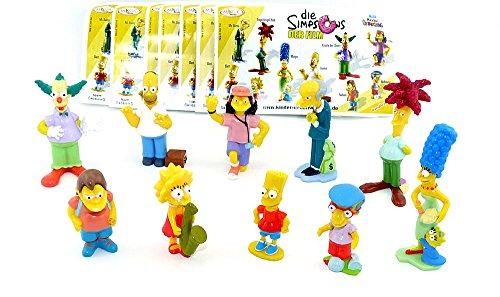 Kinder Überraschung. Alle 10 Figuren von den Simpsons (Homer, Bart, Marge Lisa Simpson usw.)