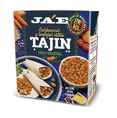 Ja'E Garbanzos y Lentejas al Estilo Tajín, Receta Tradicional Marroquí, Comida Preparada, Tetra Pak 340 Gramos