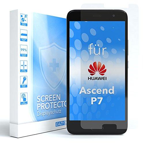 EAZY CASE 1x Panzerglas Bildschirmschutz 9H Festigkeit kompatibel mit Huawei Ascend P7, nur 0,3 mm dick I Schutzglas aus gehärteter 2,5D Panzerglasfolie, Bildschirmschutzglas, Transparent/Kristallklar