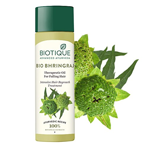 Buy Biotique Bio Bhringraj Therapeutic Hair Oil for Falling Hair Intensive  Hair Regrowth Treatment, 200ml Online at Low Prices in India - Amazon.in