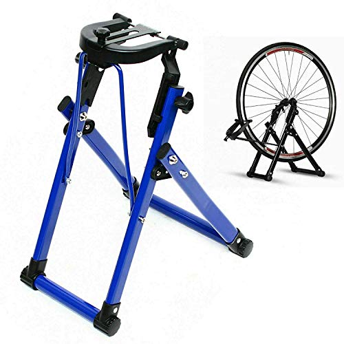 DYRABREST Foldable Wheel Holder Bicycle Wheel Maintenance Wheel Truing Stand, Bike Tire Truing Stand, Professional Bicycle Rim Home Mechanic Truing Stand Suitable for 24' - 28' 700C Wheels