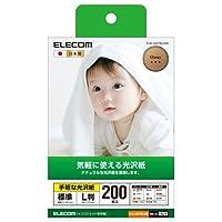 エレコム 光沢写真用紙 手軽な光沢紙 L判 200枚 EJK-GAYNL200