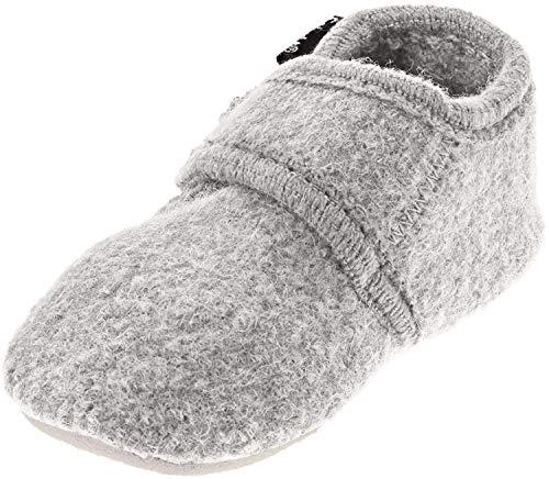 CELAVI Unisex-Baby Wool Shoe Hausschuh, Grey Melange , 25/26 EU