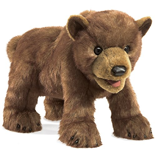 Folkmanis Bear Cub Hand Puppet Plush, Brown