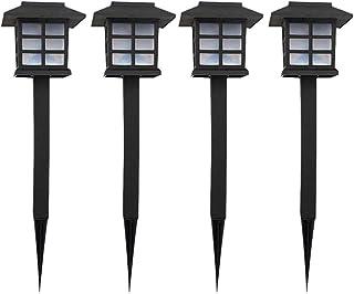 FRCOLOR 4Pcs LED Luzes Solares de Jardim Caminho Em Forma de Casa í Prova D 'ígua Luzes Coloridas Spot Iluminaçío de Pais...