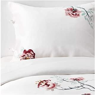 IKEA Jattelilja Duvet Cover and Pillowcases White Floral Patterned Size: King 604.125.12